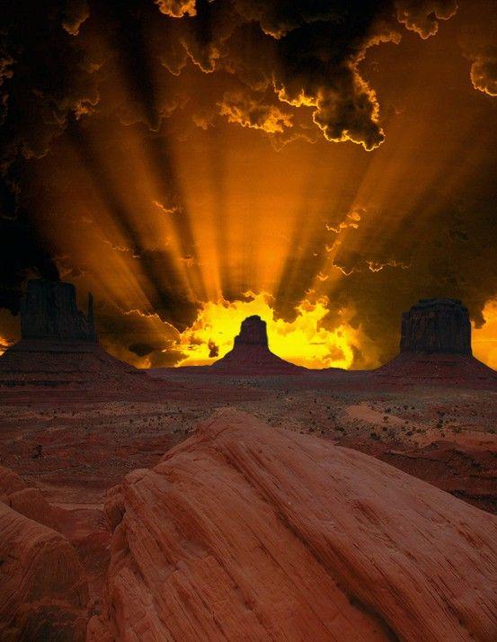 Beautiful Photo of Desert Sky