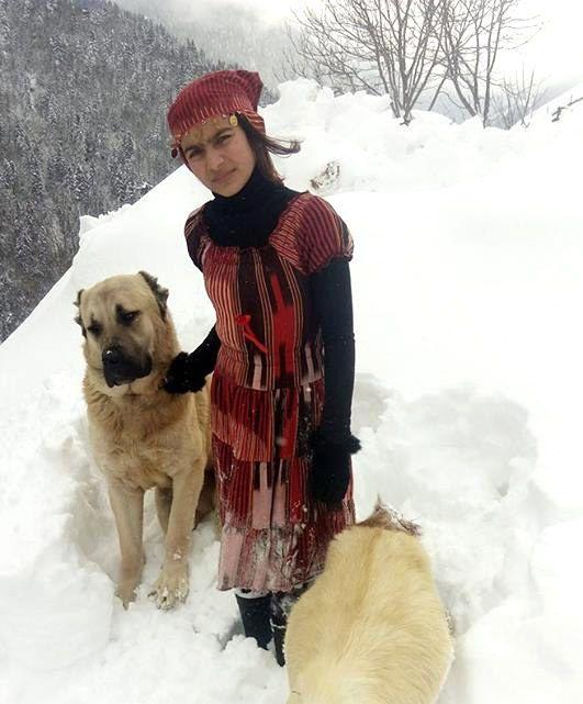 turkish girl with dog