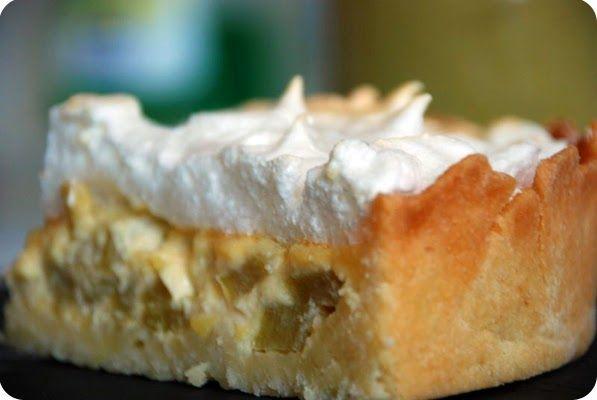 se r 233 galer avec thermomix tarte 224 la rhubarbe meringu 233 e desserts met meringue