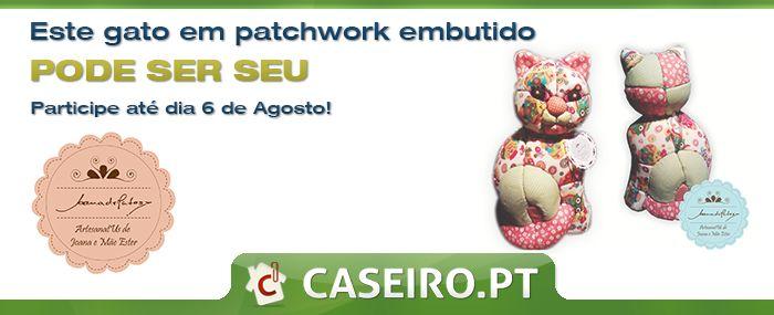 #passatempo #caseiropt e #artesanatUs a decorrer. Habilite-se a ganhar este gato em #patchwork embutido