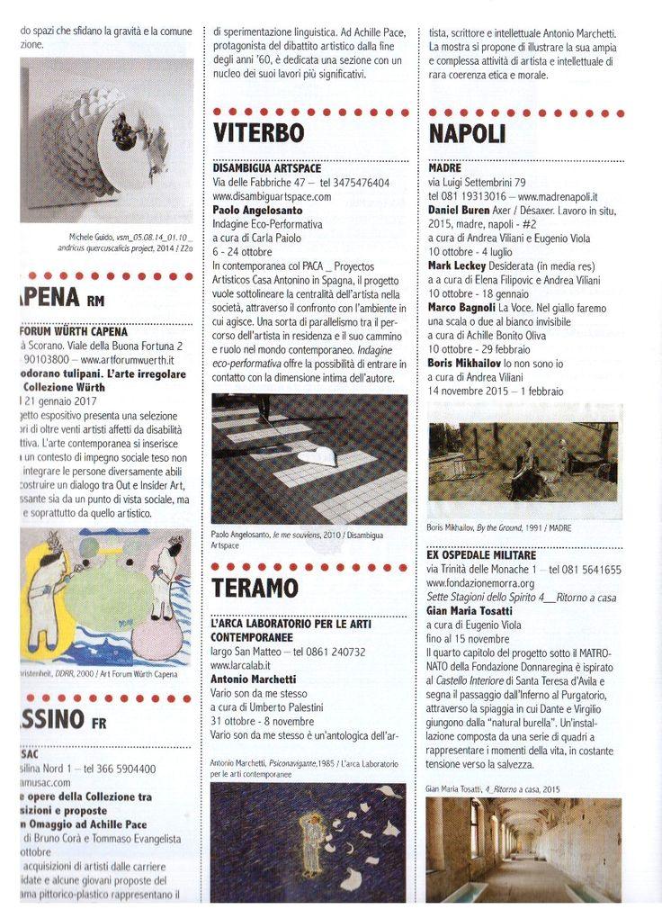 Sul numero di Settembre di Arte e Critica City, un articolo che parla della nostra mostra in corso! (pagina 2)