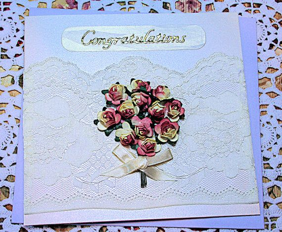 Congratulations said with Flowers & Lace by CardsbyCoralJean