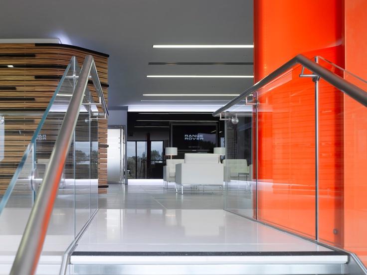 Lighting Design @ Jaguar Range Rover Offices UK from Edward Ray International