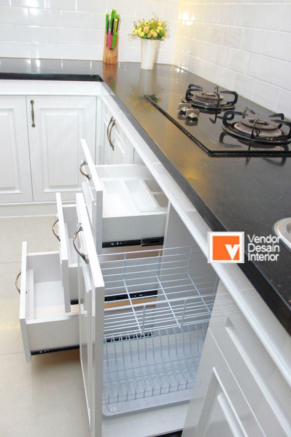 Dapur Klasik Putih Duco Rak Samping Ibu Jahroh 0812 1233 9393