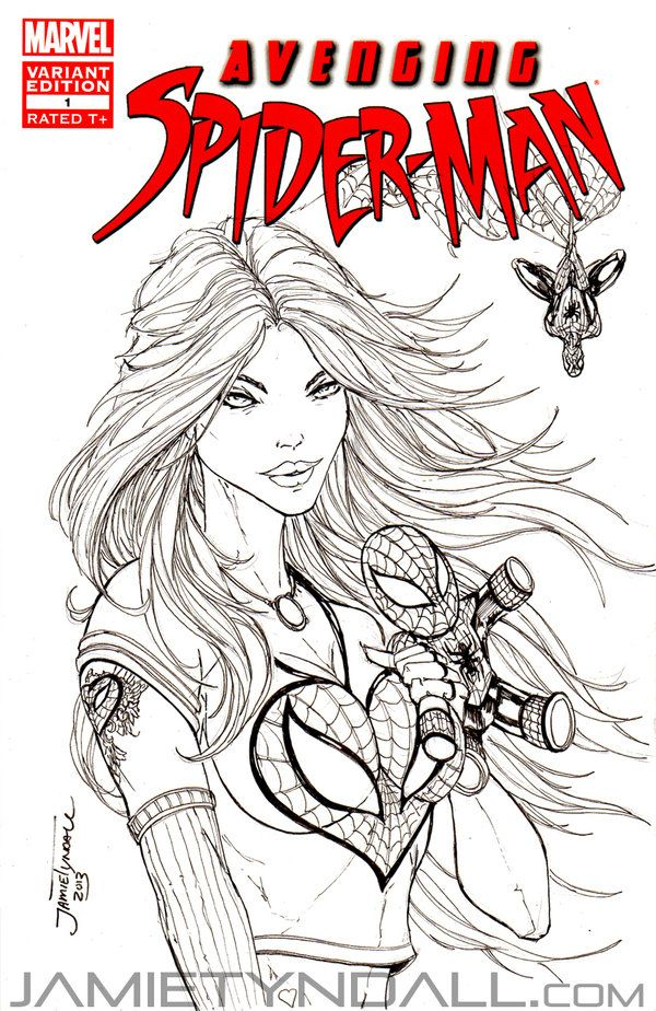 mary jane watson coloring pages - photo#26