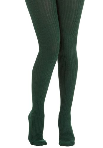 """Forest Green tights. These would look so fitting on a fashionable little eskimo like """"Heather Duke,"""". (Comment if you get the reference)"""