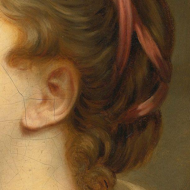 Portrait of a Girl (detail), follower of Jean Baptiste Greuze