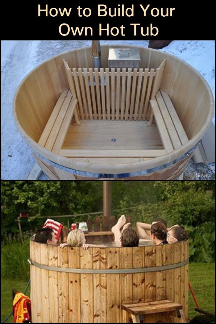 Build Your Own Hot Tub House Plans Diy Pool Outdoor