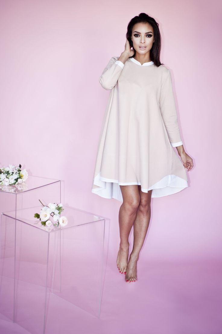 Sukienka ze stójką Delia | MISSU DESIGN | SHOWROOM