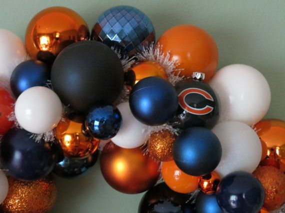 CHICAGO BEARS Ornament Wreath by dottiegray on Etsy