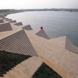 Yiwu Riverbank in China