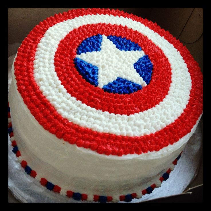 Cake Captain America Pinterest : Captain America cake Party Time/ Holiday Pinterest ...