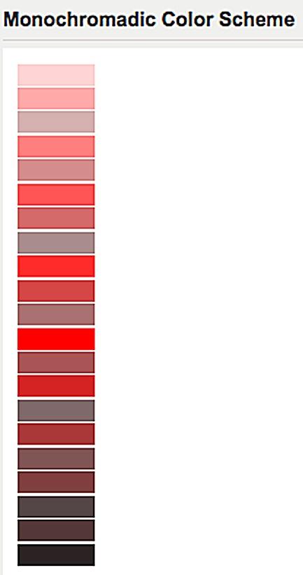 Red Monochromatic Color Scheme