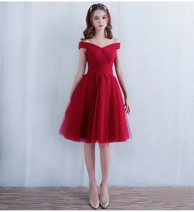 Aliexpress.com : Buy Robe De Soiree 2016 New Sweetheart Off the shoulder Short Bridesmaid Dress Wine Red Elegant Banquet Sexy Formal Dresses Custom from Reliable dress right dress suppliers on Jinhua SSYFashion E-Business CO.,LTD