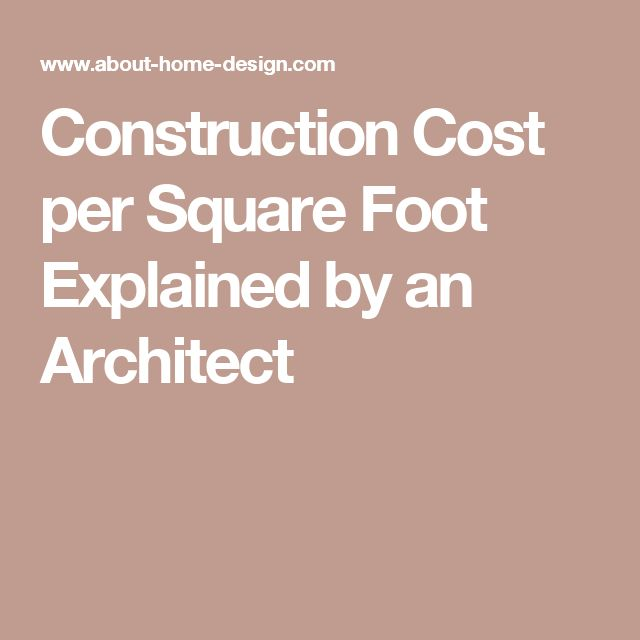 1000 ideas about construction cost on pinterest new for New home cost per square foot