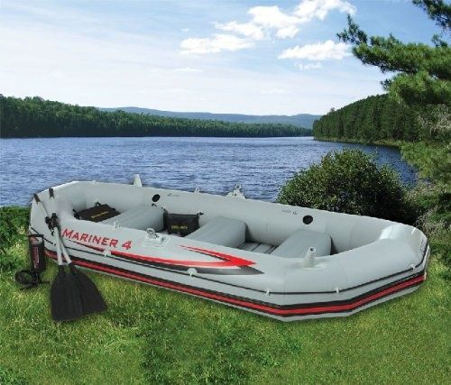 Intex Mariner 4 Inflatable Raft River Lake Dinghy Boat & Oars Set | 68376EP New 2013 at http://suliaszone.com/intex-mariner-4-inflatable-raft-river-lake-dinghy-boat-oars-set-68376ep-new-2013/