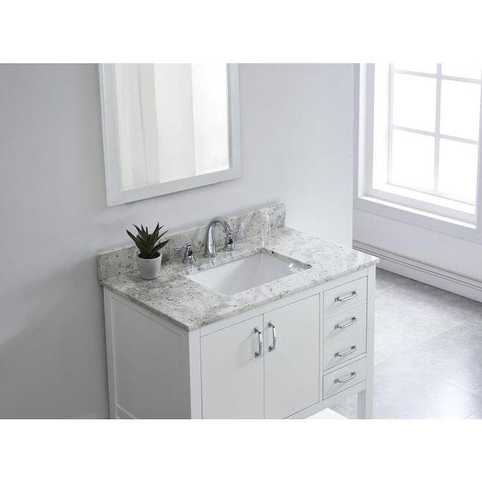 Bestview 37 In Glacier White Granite Single Sink Bathroom Vanity Top Lowes Com Granite Bathroom Vanity Tops White Granite Bathroom Vanity Bathroom Vanity Tops
