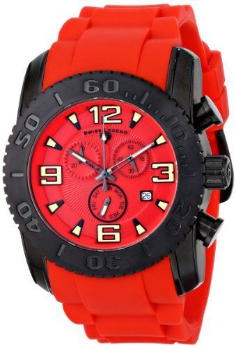 Men's Wrist Watches - Swiss Legend Mens 10067BB05 Commander Analog Display Swiss Quartz Red Watch *** Check this awesome product by going to the link at the image.