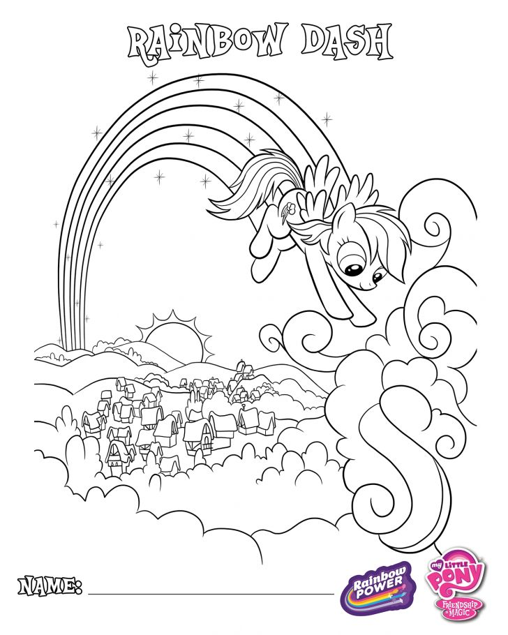 attractive my little pony power ponies coloring pages picture