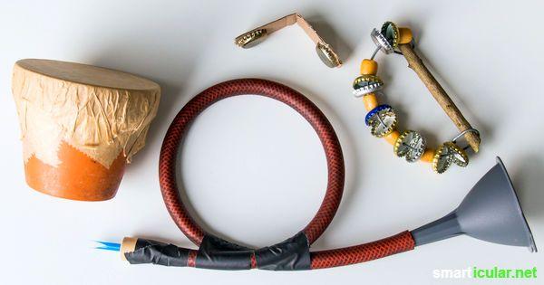 Musik aus Müll: 6 Kinder-Musikinstrumente aus Abfällen basteln
