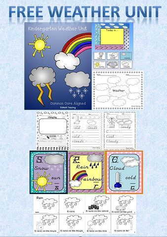 Great kindergarten weather unit. Download this product for free!