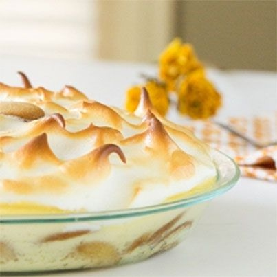 Southern Style Banana Pudding with Meringue Topping