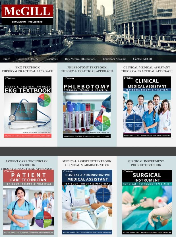 patient care technician cover letter%0A Best Healthcare book provider McGill Book Publisher  http   mcgilleducation com