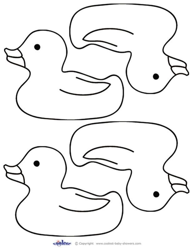 Baby shower - duck template