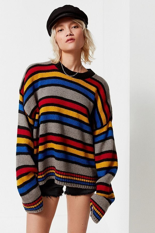 Slide View: 1: The Ragged Priest Candy Striped Sweater