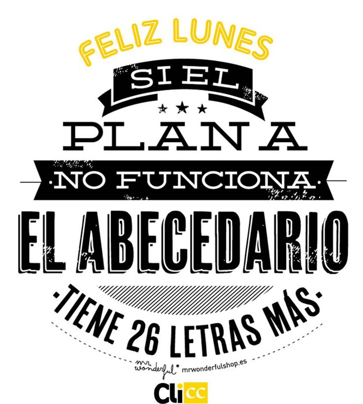 monday, clicc, lunes, mr wonderful