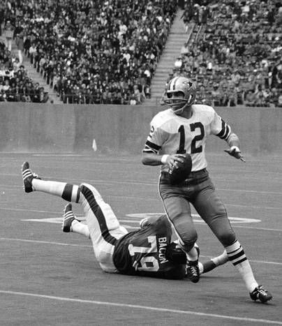 """Roger Staubach, quarterback, 1969-1979. Inducted: 1985 - Staubach was originally drafted in 1964 but didn't start playing until 1969 after he completed his Navy service. The six-time Pro Bowler earned the nickname """"Captain Comeback"""" for helping the Cowboys overcome fourth-quarter deficits 23 times. He led Dallas to seven division titles and two Super Bowl victories. He was named MVP of Super Bowl VI and inducted into the Cowboys' Ring of Honor in 1983."""