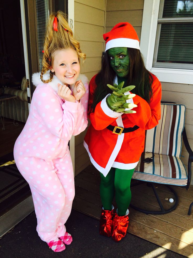 Cindy Lou who and the grinch DIY Halloween costumes