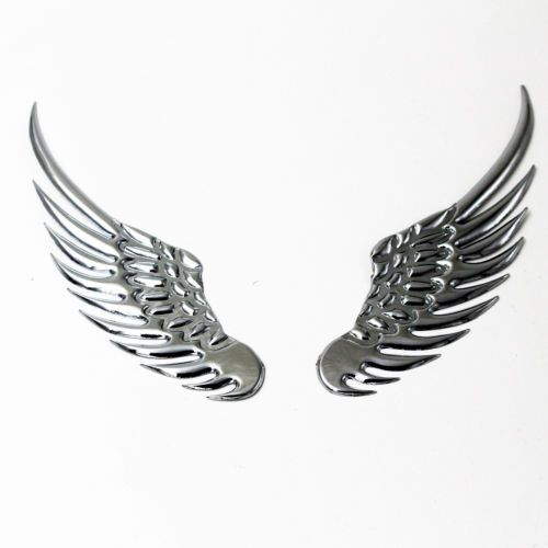 3D-Angel-Hawk-Wings-Car-Pair-Chrome-Metal-Silver-Emblem-Sticker-Decor-Decal-Logo