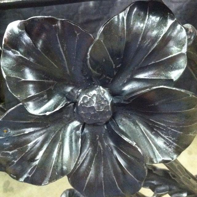 flower / steel / hand forged Oak Hill Iron