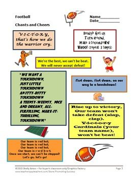 Football Math and Literacy Activities: Your students will love these ...