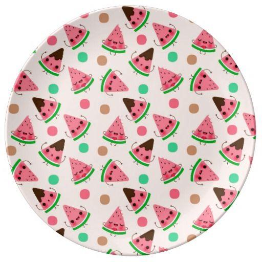 Oh lala Watermelon - Assiette en porcelaine