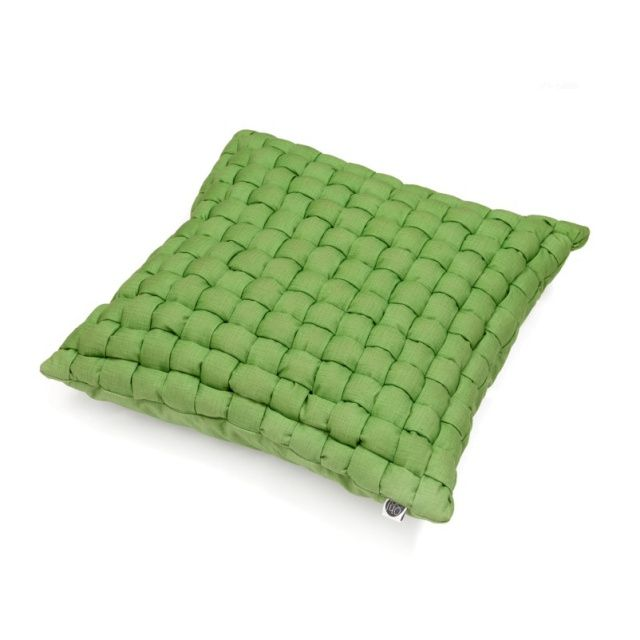 WEAVE AVOCADO pillow - Ohoo!  Remarkable pillow in a single colour - it's not an oxymoron!