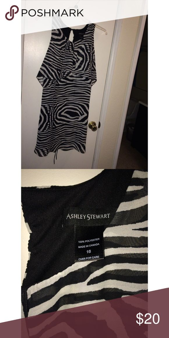 Super Cute Ashley Stewart's Dress Super cute Ashley Stewart dress used once for a party then washed and put away. Price negotiable bundle to save. Ashley Stewart Dresses Midi                                                                                                                                                     More