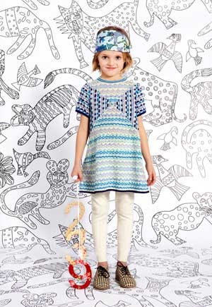 missoni girls clothes fall winter 2013 blue sweater dress. click here to learn more http://www.dashinfashion.com/news/missoni-kids-fall-winter-2013-collection.html