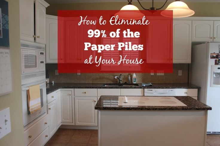 How to Eliminate 99% of the Paper Piles at Your House