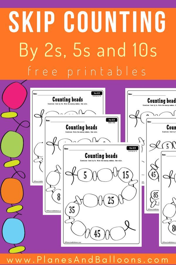 Skip Counting Worksheets For Kindergarten For Classroom Or