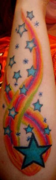 shoting star tattoos | Shooting Star Tattoos Pictures and Designs Body-Art 12