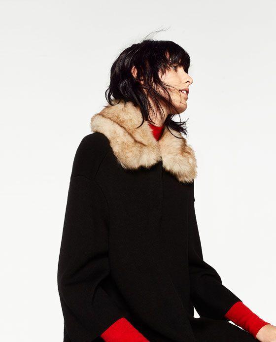 Immagine 8 di CAPPOTTO COLLO IN PELLICCIA di Zara