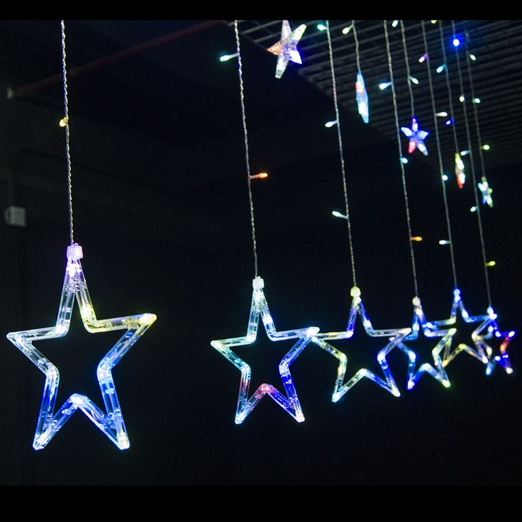 Christmas Lights LED Curtain Light Holiday light Icicle Lighting Star Styled with 8 Modes Memory Controller & The 133 best Holiday Lighting images on Pinterest | Vacation ...