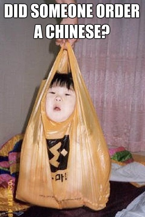 Chinese Order. Humor, Funny