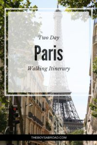 Two Day Walking Itinerary of Paris. Tick off all the sites with time for a sleep in!