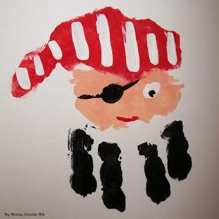 Piraat van een handafdruk