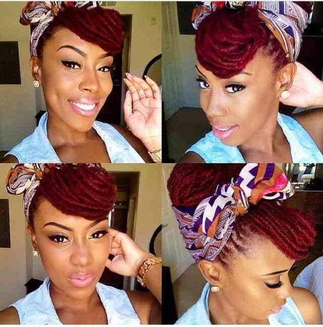 Protective style ( colored locs) Follow for more styles http://www.yeahsexyweaves.tumblr.com