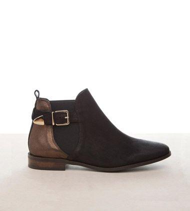 Boots cavalière métallisées