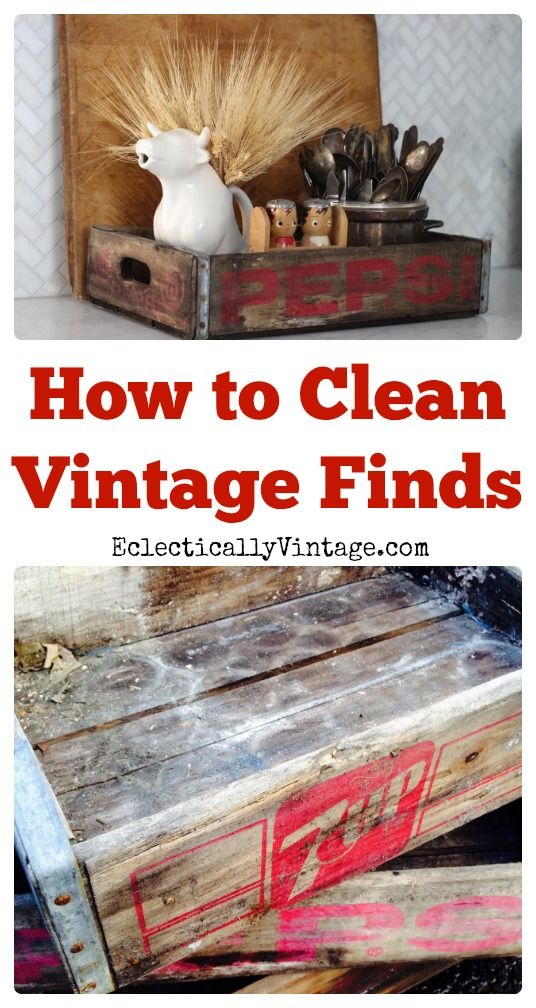 How to Clean Vintage Finds  eclecticallyvintage.com